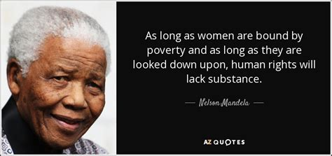 Nelson Mandela quote: As long as women are bound by