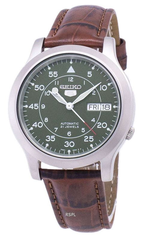 Seiko 5 Military SNK805K2-SS2 Automatic Brown Leather