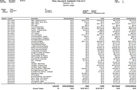 How To Realign Trial Balance Summary Modified Report
