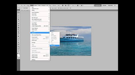 """""""Rasterizing"""" a layer in photoshop - YouTube"""