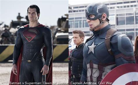 Batman v Superman: Dawn of Justice vs Captain America