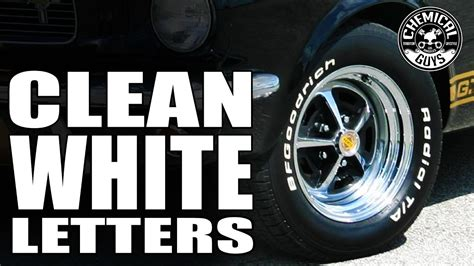How To Clean Whitewall Tires And Lettering - Chemical Guys