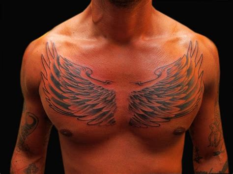 Wing Tattoos on Chest Designs, Ideas and Meaning   Tattoos