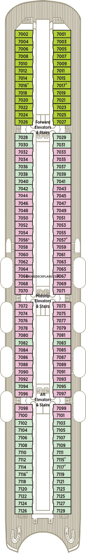 Crystal Symphony Deck Plans - Cabin Diagrams - Pictures