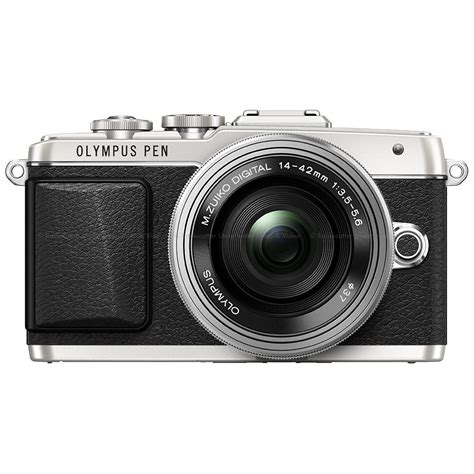 Olympus PEN E-PL7 Micro 4:3 Mirrorless Silver Camera with