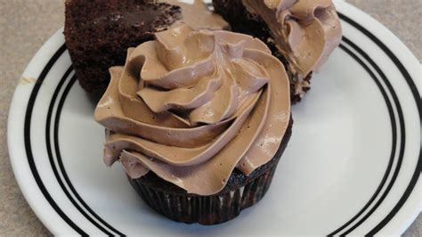 Chocolate Swiss Meringue Buttercream Frosting (on pudding