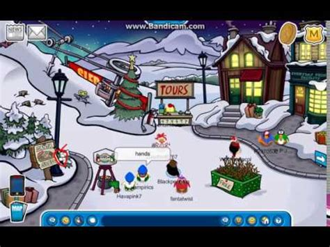 Club Penguin Rewritten: Holly pin Location - YouTube