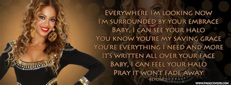 Beyonce Halo Lyrics Facebook Cover | Music Facebook Covers