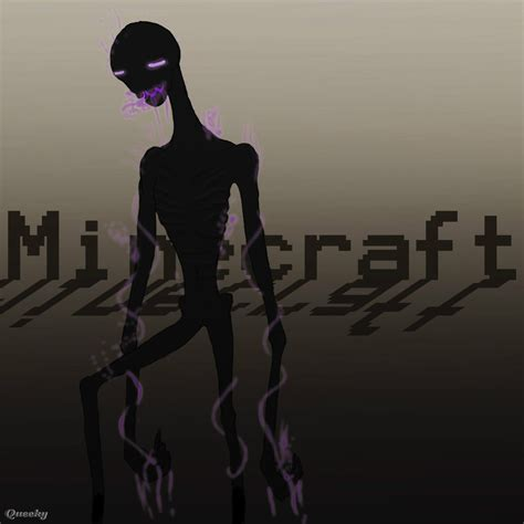 The Real Enderman ← a creepy Speedpaint drawing by