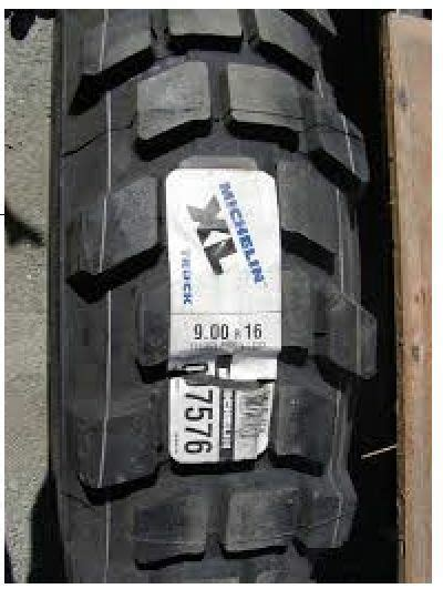 """900R16 New Michelin XL Tire Tyres (36"""" tall) (255/100R16"""