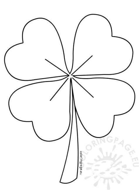 Four Leaf Clover vector – Coloring Page