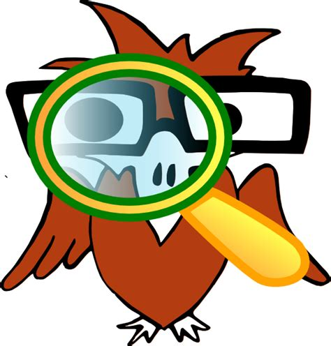 Golden Eagle With Magnifying Glass Clip Art at Clker