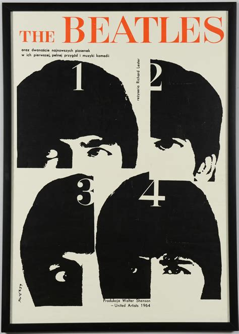 iGavel Auctions: 1964 German Beatles Poster, A Hard Day's