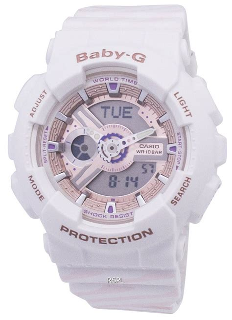 Casio Baby-G Shock Resistant World Time BA-110CH-7A