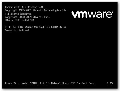 How to Increase the VMWare Boot Screen Delay