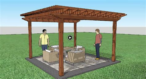 Sketchup for Beginners: How to Build A Pergola | ProTradeCraft