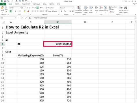 How to Calculate R2 Excel | Techwalla