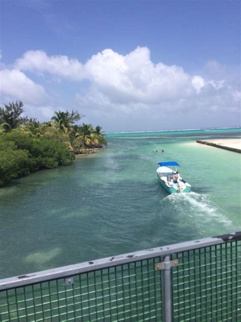 San Pedro island, Belize - bridge into town